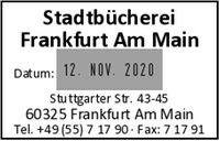 Stempelplatte / Textplatte für Colop Office Line S 660 Dater